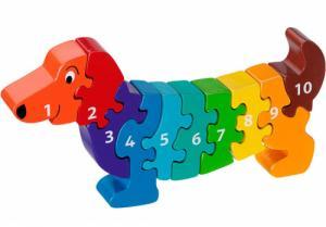 Puzzle en bois Chien Chiffres 1-10