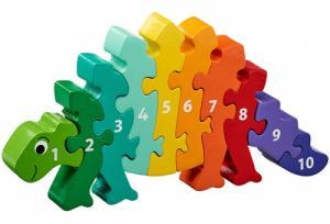 Puzzle en bois Dinosaure Chiffres 1-10
