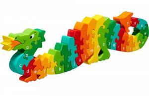 Puzzle en bois Dragon Alphabet