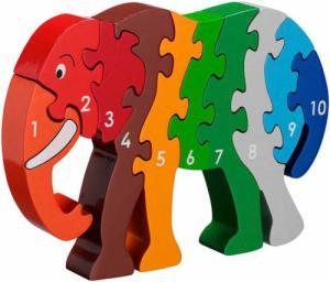 Puzzle en bois Eléphant Chiffres 1-10