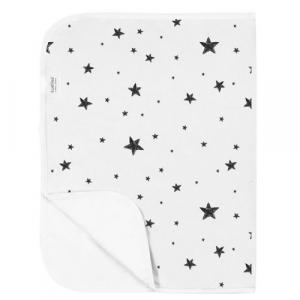 Alèse imperméable  Scribble Stars Black - White