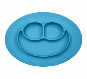 Assiette Antidérapante MINI Mat BLEU