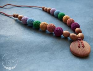 Collier d'allaitement et de portage Earthy Rainbow Chêne - RN002