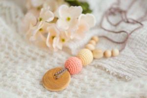 Collier d'allaitement et de portage Peach and Brown Pommier- BN010