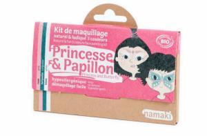 Kit de Maquillage 3 couleurs Princesse et Papillon