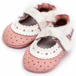 Sandales en cuir souple Baby Rose