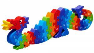 Puzzle en bois Dragon Chiffres 1-25