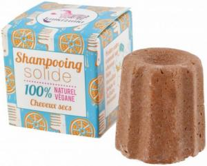 Shampoing solide cheveux secs à l'orange -