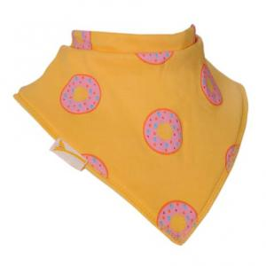 Bavoir Bandana  Hummm des donuts en jaune
