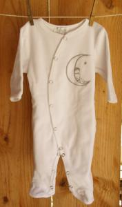 Grenouillère Lune en coton bio