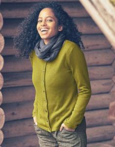 Cardigan en laine Nouveaux coloris!