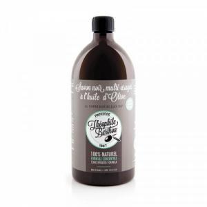 1L de Savon Noir Liquide concentré Ménager. Pur végétal. Parfum Eucalyptus.