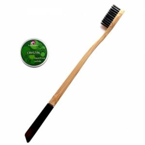DENTIFRICE SOLIDE CRYSTAL + BROSSE A DENTS BAMBOU soft