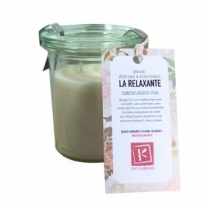 Bougie VÉGÉTALE parfumée La Relaxante - Cèdre et verveine exotique