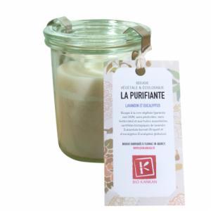Bougie VÉGÉTALE parfumée La Purifiante - Lavande et Eucalyptus