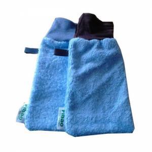 Gant démaquillant - peaux normales à mixtes - Bleu layette