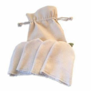Kit 4 Lingettes réutilisables Bio  mini gants  longues