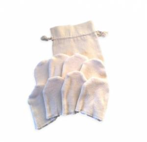 Kit 8 Lingettes réutilisables Bio  mini gants  longues