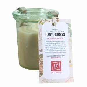Bougie VÉGÉTALE parfumée l'Anti-stress - Palmarosa et bois de hô