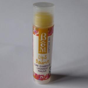 Stick lèvres à la cire d'abeille, lavande et mauve