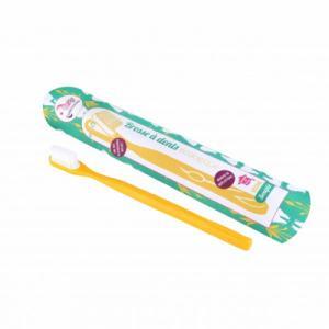 Brosse à dents à tête rechargeable - Jaune - Souple