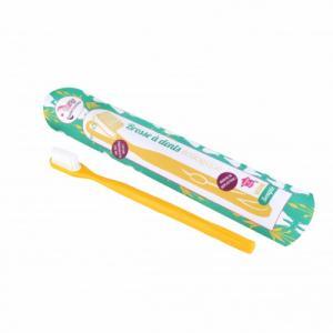 Brosse à dents à tête rechargeable - Jaune - Medium