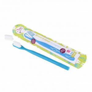 Brosse à dents à tête rechargeable - Bleu - Souple