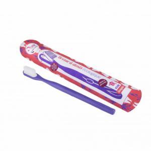 Brosse à dents à tête rechargeable - Violette - Souple