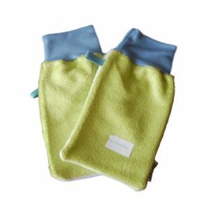 Gant démaquillant - peaux normales à mixtes - Vert pomme