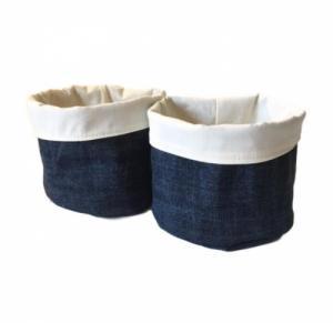 2 Paniers ronds en tissu