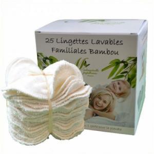 Boîte de 25 lingettes familiales Eco Recharges Ecru