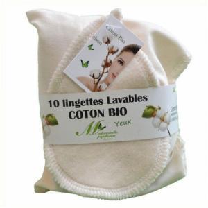 Lot de 10 Lingettes Yeux - Coton bio