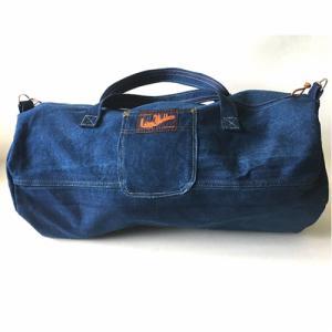 Grand sac rond en jean recyclé