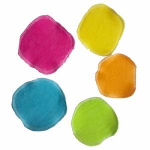 Lot de 5 mini carrés démaquillants en coton bio