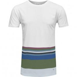 Tee Print Stripes Bright White
