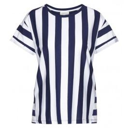 Ronja Block Stripes Dark Cobalt White
