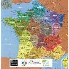 Puzzle en bois la carte de France des départements 100 pcs