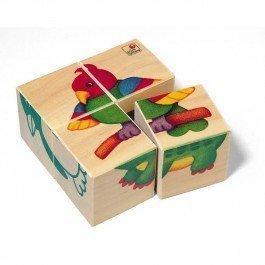 Cubes en bois Bébés Animaux du Zoo