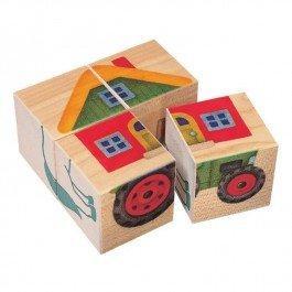 Cubes en bois La Ferme