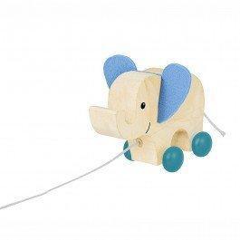 Mon éléphant en bois à traîner