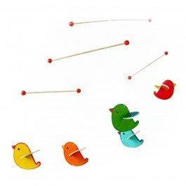 Mobile Oiseaux colorés