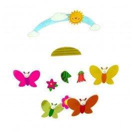 Mobile Fleurs et Papillons