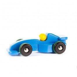 Voiture de course Formule 1 bleue
