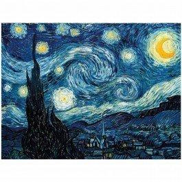 Puzzle en bois Nuit étoilée - Van Gogh 50 pièces