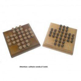 Solitaire en bois format carré
