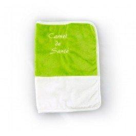 Protège carnet de santé vert-blanc