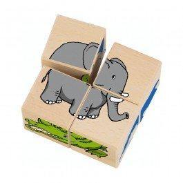 Cubes en bois Zoo