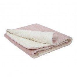 Tapis de jeu couverture en coton biologique 100 x 75 cm - rose