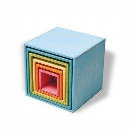 Grands cubes Gigognes pastel à empiler de Grimm's