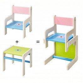 Chaise et table Fleur - Chaise haute pour poupée